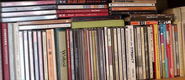 Półka z płytami Darka
