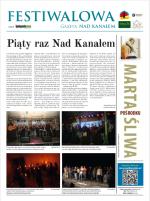 """Festiwalowa Gazeta """"Nad Kanałem"""" 2014"""
