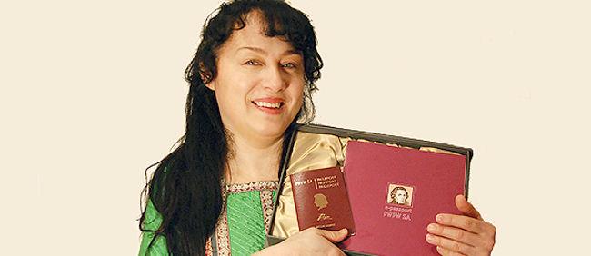 Maria Pomianowska z Paszportem Chopina