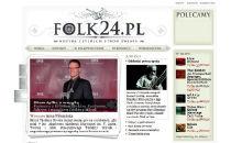 Zrzut strony głównej Folk24